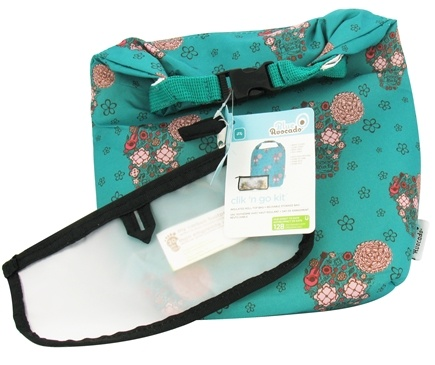 Blue Avocado - Clik 'N Go Kit Reusable Insulated Roll Top Bag + Reusable Storage Bag Girls Skulls