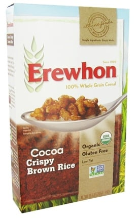 DROPPED: Erewhon - Organic Whole Grain Cereal Crispy Brown Rice Cocoa - 10.5 oz.