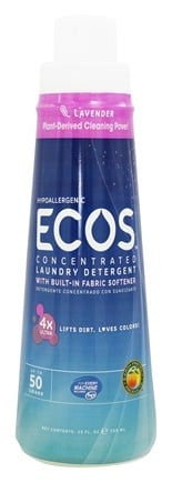 DROPPED: Earth Friendly - ECOS 4X Opti-Strength Concentrated Laundry Detergent Lavender - 25 oz.