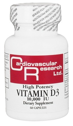 DROPPED: Ecological Formulas - Vitamin D3 High Potency 10000 IU - 60 Capsules (Formerly Cardiovascular Research)
