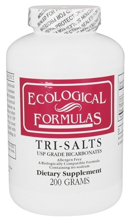 Ecological Formulas - Tri-Salts USP Grade Bicarbonates - 200 Grams (Formerly Cardiovascular Research)