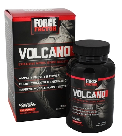 Force Factor - VolcaNO Pre-Workout Explosive Nitric Oxide Booster - 120 Capsules