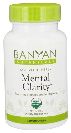 DROPPED: Banyan Botanicals - Organic Mental Clarity 500 mg. - 90 Tablets