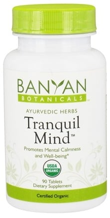 DROPPED: Banyan Botanicals - Organic Tranquil Mind 500 mg. - 90 Tablets