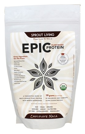 DROPPED: Sprout Living - Epic Plant-Based Protein Chocolate Maca - 16 oz.