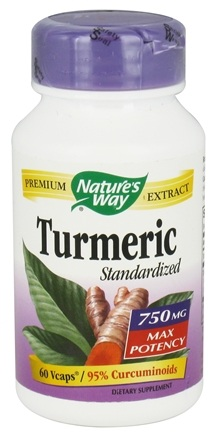 Nature's Way - Turmeric Standardized Premium Extract 750 mg. - 60 Vegetarian Capsules