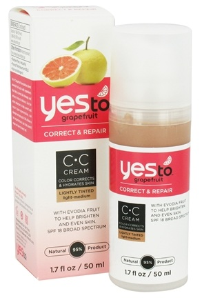 DROPPED: Yes To - Grapefruit Correct & Repair CC Cream Light-Medium 18 SPF - 1.7 oz. CLEARANCE PRICED