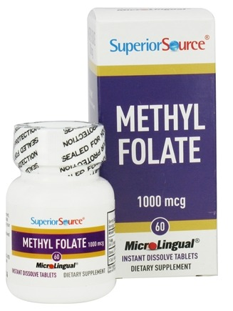 Superior Source - Methyl Folate Instant Dissolve 1000 mcg. - 60 Tablet(s)