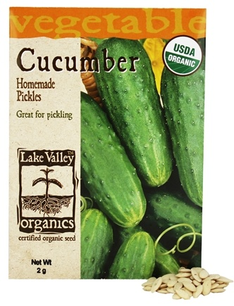 DROPPED: Lake Valley Seed - Organic Cucumber Homemade Pickles Seeds - 2 Grams
