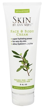Skin by Ann Webb - Naturals Face & Body Cream Unscented - 8 oz.