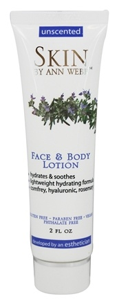 Skin by Ann Webb - Naturals Face & Body Lotion Unscented - 2 fl. oz.