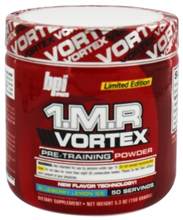 DROPPED: BPI Sports - 1 M.R Vortex Limited Edition Pre-Workout Powder Blueberry Lemon Ice 50 Servings - 150 Grams