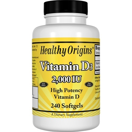 Healthy Origins - Vitamin D3 2000 IU - 240 Softgels