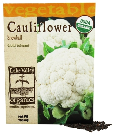 DROPPED: Lake Valley Seed - Organic Cauliflower Snowball Seeds - 750 mg.