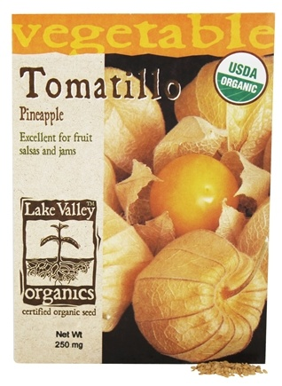 DROPPED: Lake Valley Seed - Organic Tomatillo Pineapple Seeds - 250 mg.