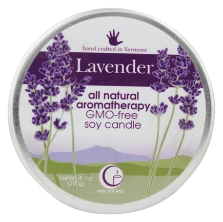 DROPPED: Way Out Wax - Soy Wax Candle Large Travel Tin Lavender - 6.7 oz.