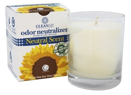 DROPPED: Way Out Wax - CleanAir Odor Neutralizer Candle Clear Glass Tumbler Neutral Scent - 6 oz.