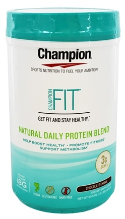 Champion Naturals - Fit Natural Daily Protein Blend Chocolate Chunk - 30.5 oz.