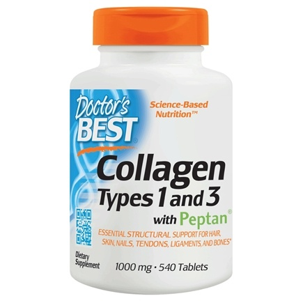Doctor's Best - Best Collagen Types 1 & 3 1000 mg. - 540 Tablets