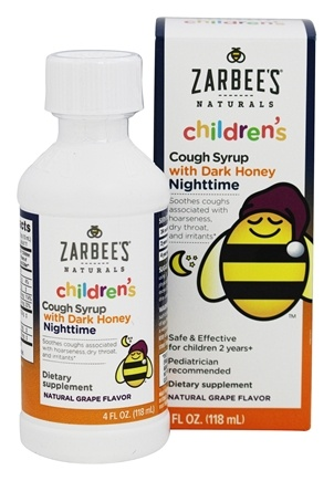 DROPPED: Zarbee's - Children's Cough Syrup Nighttime Natural Grape Flavor - 4 oz.