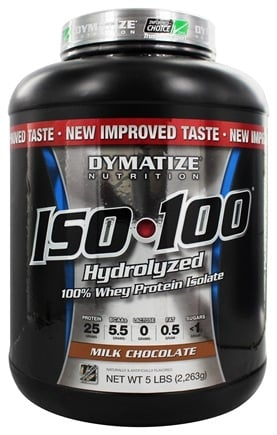 DROPPED: Dymatize Nutrition - ISO 100 100% Hydrolyzed Whey Protein Isolate Milk Chocolate - 5 lbs.