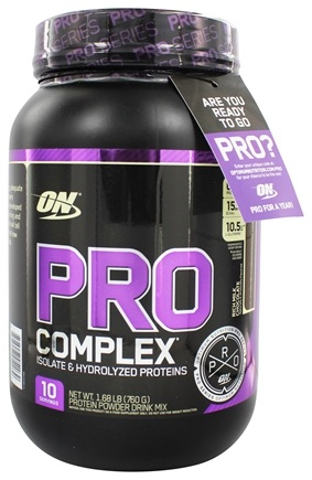 DROPPED: Optimum Nutrition - Pro Complex Isolate & Hydrolyzed Proteins Rich Milk Chocolate - 1.68 lb.