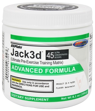 DROPPED: USP Labs - UNPUBLISHED Jack3d Advanced Formula Watermelon 45 Servings - 218 Grams