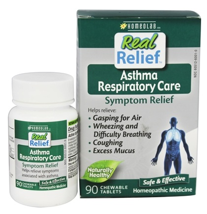 Homeolab USA - Real Relief Asthma Respiratory Care - 90 Chewable Tablets