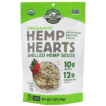 Manitoba Harvest - Hemp Hearts Organic Raw Shelled Hemp Seeds 200 g. - 7 oz.