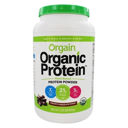 Orgain - Organic Protein Plant Based Powder Creamy Chocolate Fudge - 2.05 lbs.