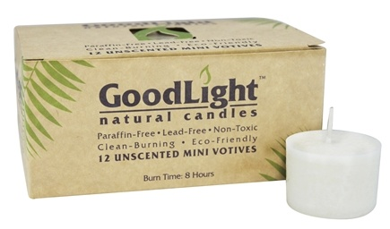 DROPPED: GoodLight Natural Candles - Mini Votives Unscented White - 12 Pack