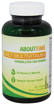 About Time - Women's Daily Multivitamin - 90 Vegetarian Capsules