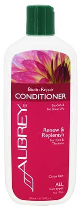 Aubrey Organics - Conditioner Biotin Repair Citrus Rain - 11 oz.