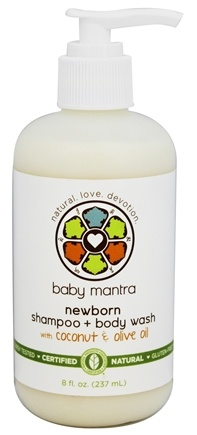 DROPPED: Baby Mantra - Newborn Shampoo + Body Wash with Coconut & Olive Oil - 8 oz.
