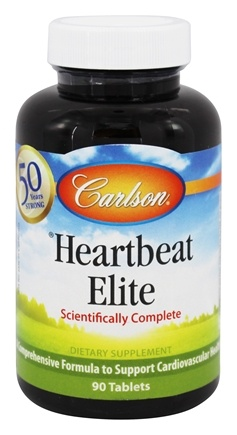 DROPPED: Carlson Labs - Heartbeat Elite Scientifically Complete - 90 Tablets