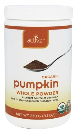 DROPPED: Activz - Organic Whole Pumpkin Powder - 8.1 oz.