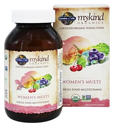 buy garden of life mykind organics womens multi whole food multivitamin 120 vegetarian tablets at luckyvitamincom - Garden Of Life Multivitamin