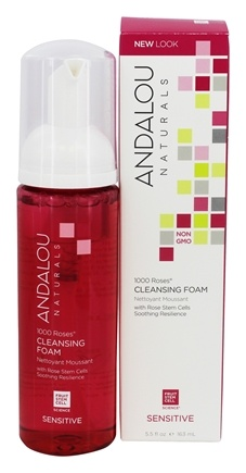 Andalou Naturals - 1000 Roses Cleansing Foam with Rose Stem Cells - 5.5 oz.