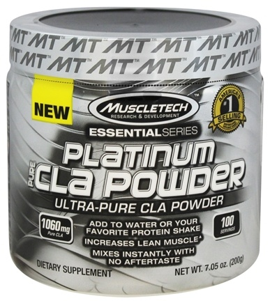 DROPPED: Muscletech Products - Platinum Essential Series Pure CLA Powder - 7.05 oz.