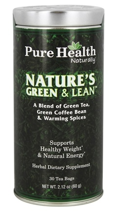 DROPPED: Pure Health - Nature's Green & Lean - 30 Tea Bags