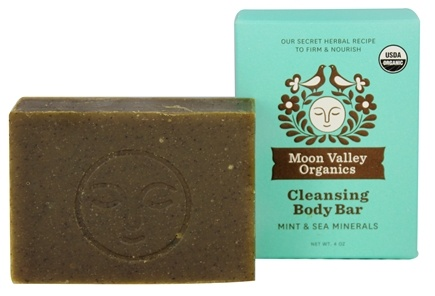 DROPPED: Moon Valley Organics - Cleansing Body Bar Mint & Sea Minerals - 4 oz.