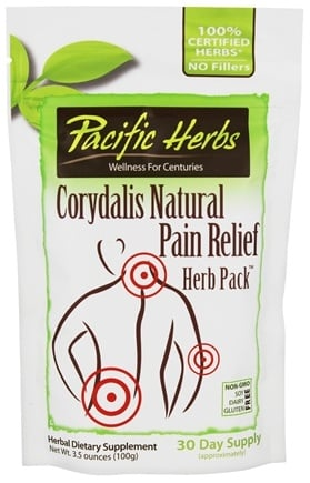 Pacific Herbs - Corydalis Natural Pain Relief Herb Pack - 3.5 oz.