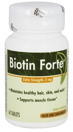 Enzymatic Therapy - Biotin Forte Extra Strength 5 mg. - 60 Tablets