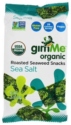 GimMe - Organic Roasted Seaweed Snacks Sea Salt - 0.35 oz.