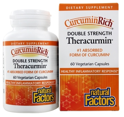 Natural Factors - Double Strength Theracurmin 60 mg. - 60 Vegetarian Capsules