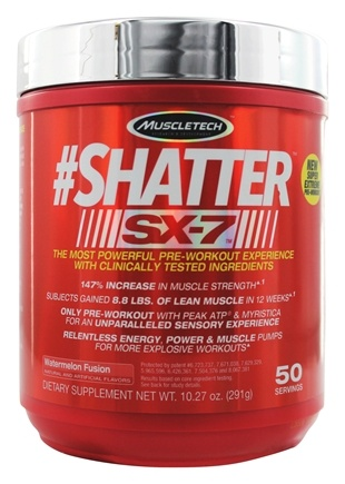 DROPPED: Muscletech Products - #Shatter SX-7 Watermelon Fusion 50 Servings - 10.3 oz.