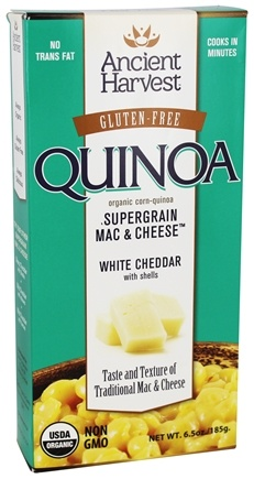 DROPPED: Ancient Harvest Quinoa - Organic Gluten Free Supergrain Quinoa Mac & Cheese White Cheddar with Shells - 6.5 oz.