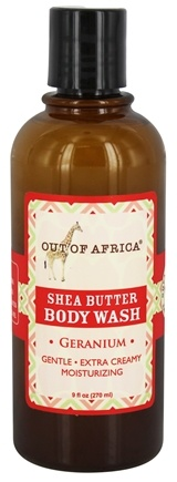 Out Of Africa - Shea Butter Body Wash Geranium - 9 oz.