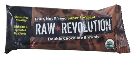 DROPPED: Raw Revolution - Fruit, Nut & Seed Super Food Bar Double Chocolate Brownie - 1.6 oz.