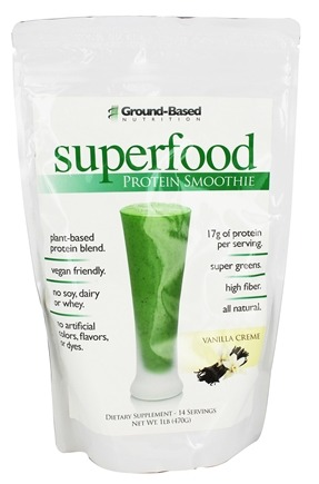 DROPPED: Ground-Based Nutrition - Superfood Protein Smoothie Vanilla Creme - 1 lb.